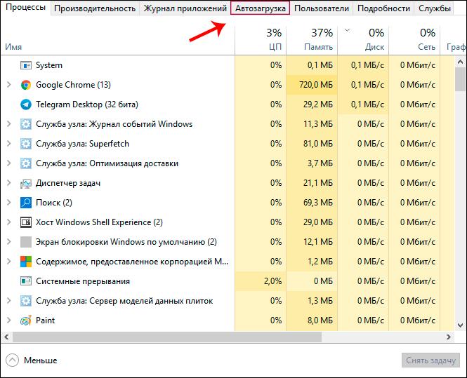 открытие диспетчера файлов с помощью комбинации ctrl+alt+delete