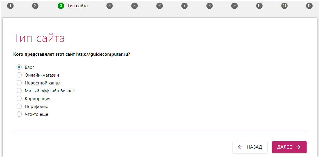 тип web-ресурса